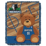 "Minnesota Timberwolves NBA ""Half-Court"" Baby Woven Jacquard Throw"
