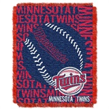 "Minnesota Twins MLB ""Double Play"" Woven Jacquard Throw"