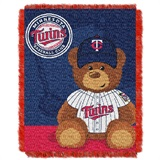 "Minnesota Twins MLB ""Field Bear"" Baby Woven Jacquard Throw"