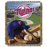 "Minnesota Twins MLB ""Home Field Advantage"" Woven Tapestry Throw"