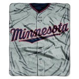 "Minnesota Twins MLB ""Jersey"" Raschel Throw"