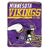 "Minnesota Vikings NFL ""40 yard Dash"" Micro Raschel Throw"