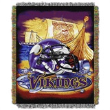 "Minnesota Vikings NFL ""Home Field Advantage"" Woven Tapestry Throw"