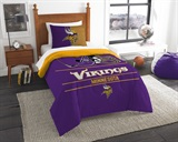 "Minnesota Vikings NFL ""Draft"" Twin Comforter Set"