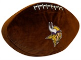 Minnesota Vikings NFL Football Shaped 3D Pillow