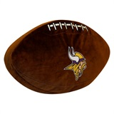 Minnesota Vikings NFL  Football Shaped 3D Plush Pillow