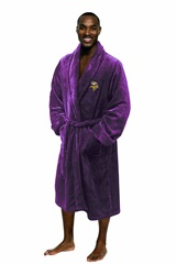 Minnesota Vikings NFL Men's L/XL Silk Touch Bath Robe