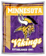"Minnesota Vikings NFL ""Old School"" Mink Sherpa Throw"
