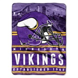 "Minnesota Vikings NFL ""Stacked"" Silk Touch Raschel Throw"
