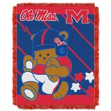 "Mississippi Rebels ""Fullback"" Baby Woven Jacquard Throw"