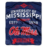 "Mississippi Rebels ""Label"" Raschel Throw"