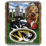 "Missouri Tigers ""Home Field Advantage"" Woven Tapestry Throw"
