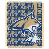 "Montana State Bobcats NCAA ""Double Play"" Woven Jacquard Throw"
