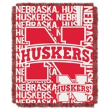 "Nebraska ""Double Play"" Woven Jacquard Throw"