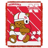"Nebraska ""Fullback"" Baby Woven Jacquard Throw"
