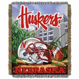 "Nebraska ""Home Field Advantage"" Woven Tapestry Throw"
