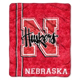 "Nebraska ""Jersey"" Sherpa Throw"