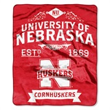 "Nebraska ""Label"" Raschel Throw"