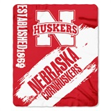 "Nebraska ""Painted"" Fleece Throw"