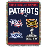 "New England Patriots ""Commemorative"" Woven Tapestry Throw"