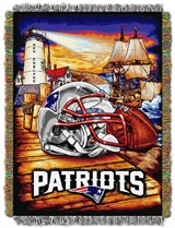 "New England Patriots ""Home Field Advantage"" Woven Tapestry Throw"