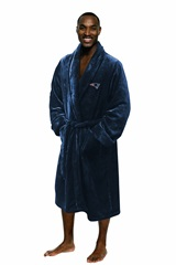New England Patriots Large/Extra Large Silk Touch Men's Bath Robe