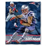 "New England Patriots NFL ""Julian Edelman"" Players HD Silk Touch Throw"