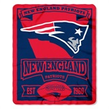 "New England Patriots NFL ""Marquee"" Fleece Throw"