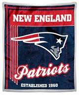 "New England Patriots NFL ""Old School"" Mink Sherpa Throw"