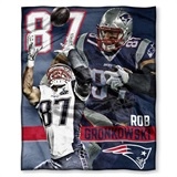 "New England Patriots NFL ""Rob Gronkowski"" Players HD Silk Touch Throw"