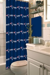 New England Patriots NFL Shower Curtain