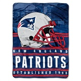 "New England Patriots NFL ""Stacked"" Silk Touch Throw"