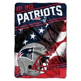 "New England Patriots NFL ""Stagger"" Micro Raschel Throw"