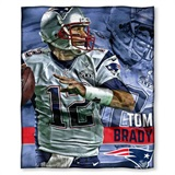 "New England Patriots NFL ""Tom Brady"" Players HD Silk Touch Throw"
