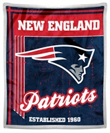 "New England Patriots ""Old School"" Mink with Sherpa Throw"
