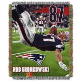 "New England Patriots ""Players"" Rob Gronkowski Woven Tapestry Throw"