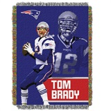 "New England Patriots ""Players"" Tom Brady  Woven Tapestry Throw"