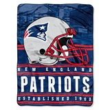 "New England Patriots ""Stacked"" Silk Touch Raschel Throw"