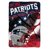 "New England Patriots ""Stagger"" Micro Raschel Throw"