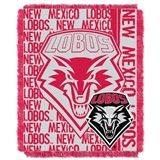 "New Mexico Lobos NCAA ""Double Play"" Woven Jacquard Throw"