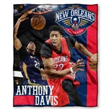New Orleans Pelicans Anthony Davis NBA Players HD Silk Touch Throw
