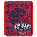 "New Orleans Pelicans NBA ""Double Play"" Woven Jacquard Throw"