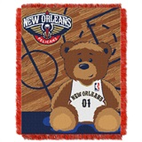 "New Orleans Pelicans NBA ""Half-Court"" Baby Woven Jacquard Throw"