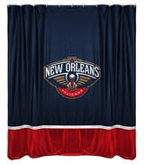 New Orleans Pelicans Sidelines Shower Curtain