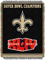 "New Orleans Saints NFL ""Commemorative"" Woven Tapestry Throw"