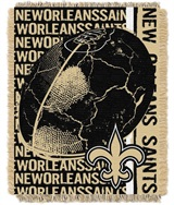 "New Orleans Saints NFL ""Double Play"" Woven Jacquard Throw"