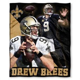 "New Orleans Saints NFL ""Drew Brees"" Players HD Silk Touch Throw"