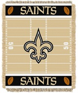 "New Orleans Saints NFL ""Field"" Baby Woven Jacquard Throw"