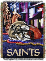 "New Orleans Saints NFL ""Home Field Advantage"" Woven Tapestry Throw"