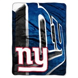 "New York Giants ""Bevel"" Micro Raschel Throw"